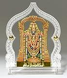Eknoor Car Dashboard Idol- Goldplated- Bala ji with japa mala (Prayer Beads)
