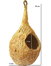ZENRISE Coconut Fiber Little Birds nest for cage and Balcony Birds Sparrows Finches breeding (Beige)