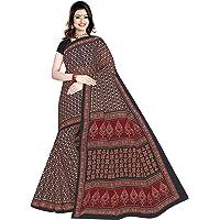 TAMAIRA FASHION Women's Plain Weave Cotton Saree without Blouse Piece