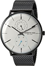 Kenneth Cole New York Men's Quartz Analog Stainless Steel Casual Watch - Grey (Kc15188001)