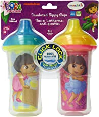 Munchkin 9 Ounce Dora the Explorer Click Lock Insulated Sippy Cup (2 Count)