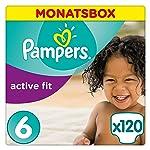 Pampers Active Fit Windeln, Gr. 6, Extra Large 15+kg, Monatsbox,1er Pack (1 x 120 Stück)
