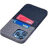 Dockem Luxe M2 Funda Cartera para iPhone 12 Pro MAX: Funda Tarjetero Slim con Placa de Metal Integrada para Soporte Magnético