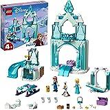 LEGO 43194 Disney Le Monde féérique d'Anna et Elsa de la Reine des Neiges avec château et poupées de Princesses, Enfant 4 Ans