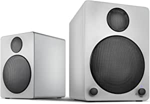 Wavemaster Cube Grey Regal Lautsprecher System 50 Watt Mit Bluetooth Streaming 2 0 Aktiv Boxen Nutzung Für Tv Tablet Smartphone Hellgrau 66322 Audio Hifi