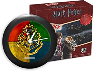 """Mc Sid Razz Official """"Harry Potter"""" - House Crest 3 Table/Wall Clock , Licensed By Warner Bros , USA"""