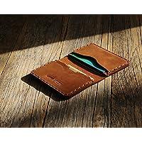 Marron Portefeuille en cuir pour Carte de crédit, argent comptant ou titulaire d'identification. Pochette unisexe style…