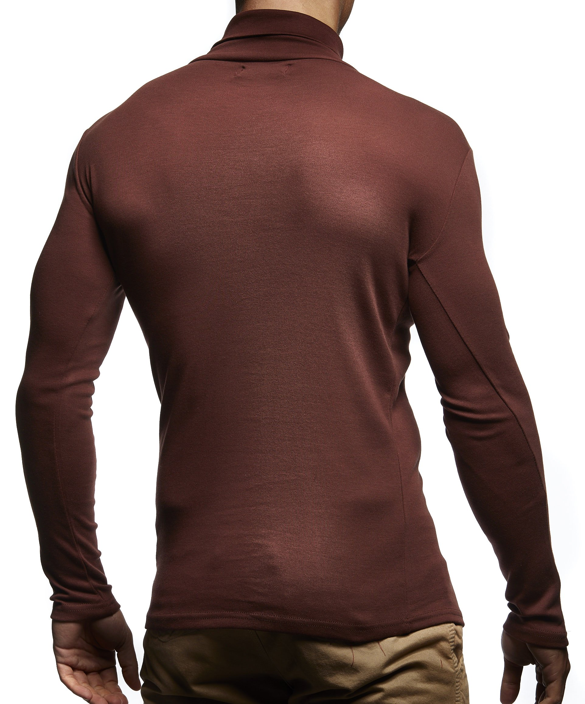 bb7bc6eb39c1 Leif-Nelson-Herren-Rollkragenpullover-Pullover-Rollkragen-Hoodie-Sweatshirt
