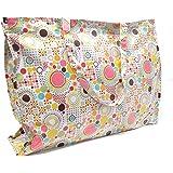 Damen Plastik Strandtasche groß XXL Shopper mit Reißverschluss wasserfest, Ideal für den Strand oder als Einkaufstasche, Vers