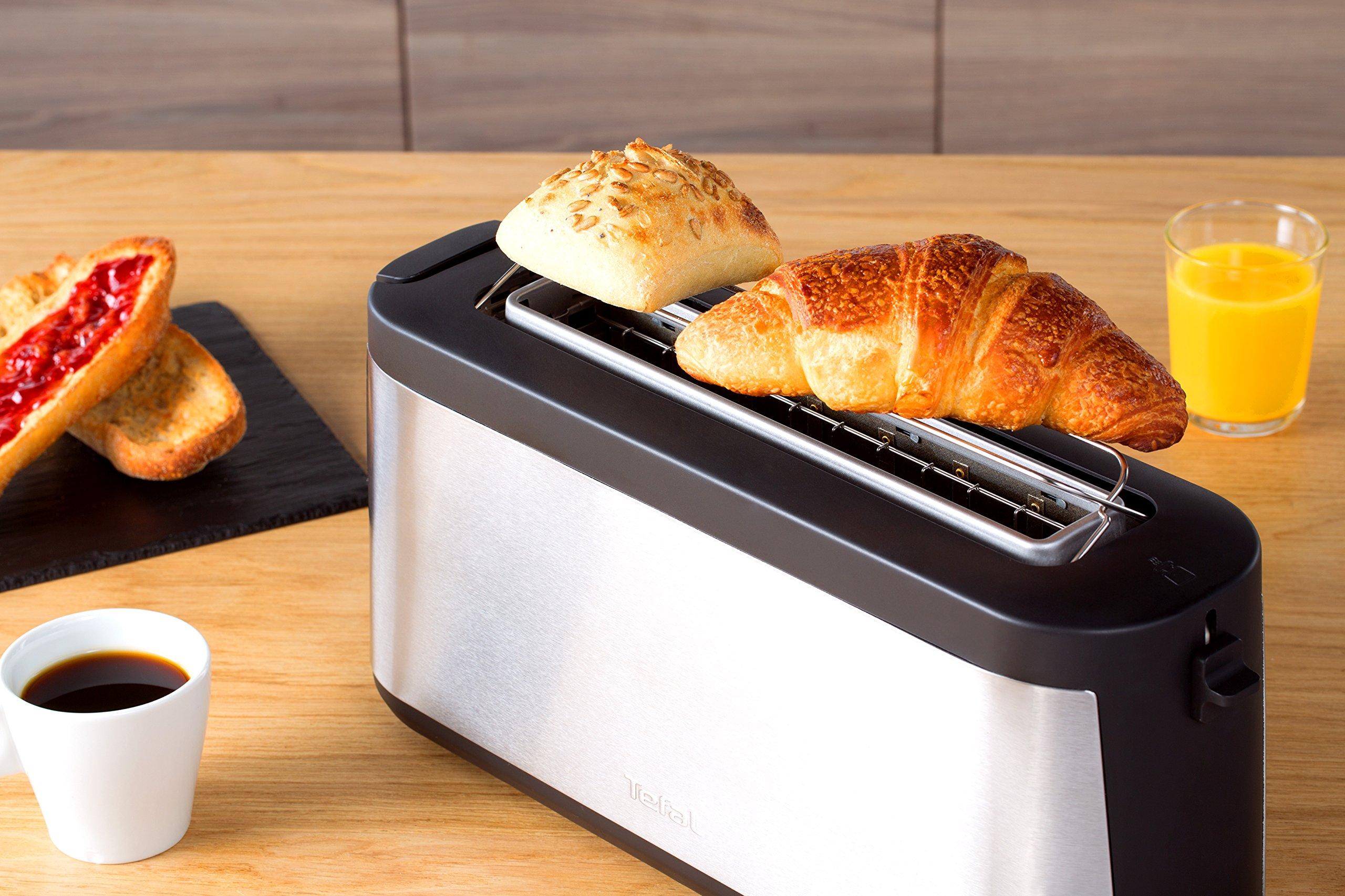 Tefal-Element-TL4308-Toaster-7-Brunungsstufen-1000-Watt-silberschwarz
