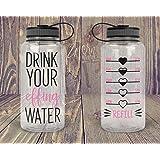 CELYCASY Trinkflasche Tracker – nur Aufkleber – motivierende Wasserflasche mit stundenlangem Tracker, Wasser-Erinnerung.