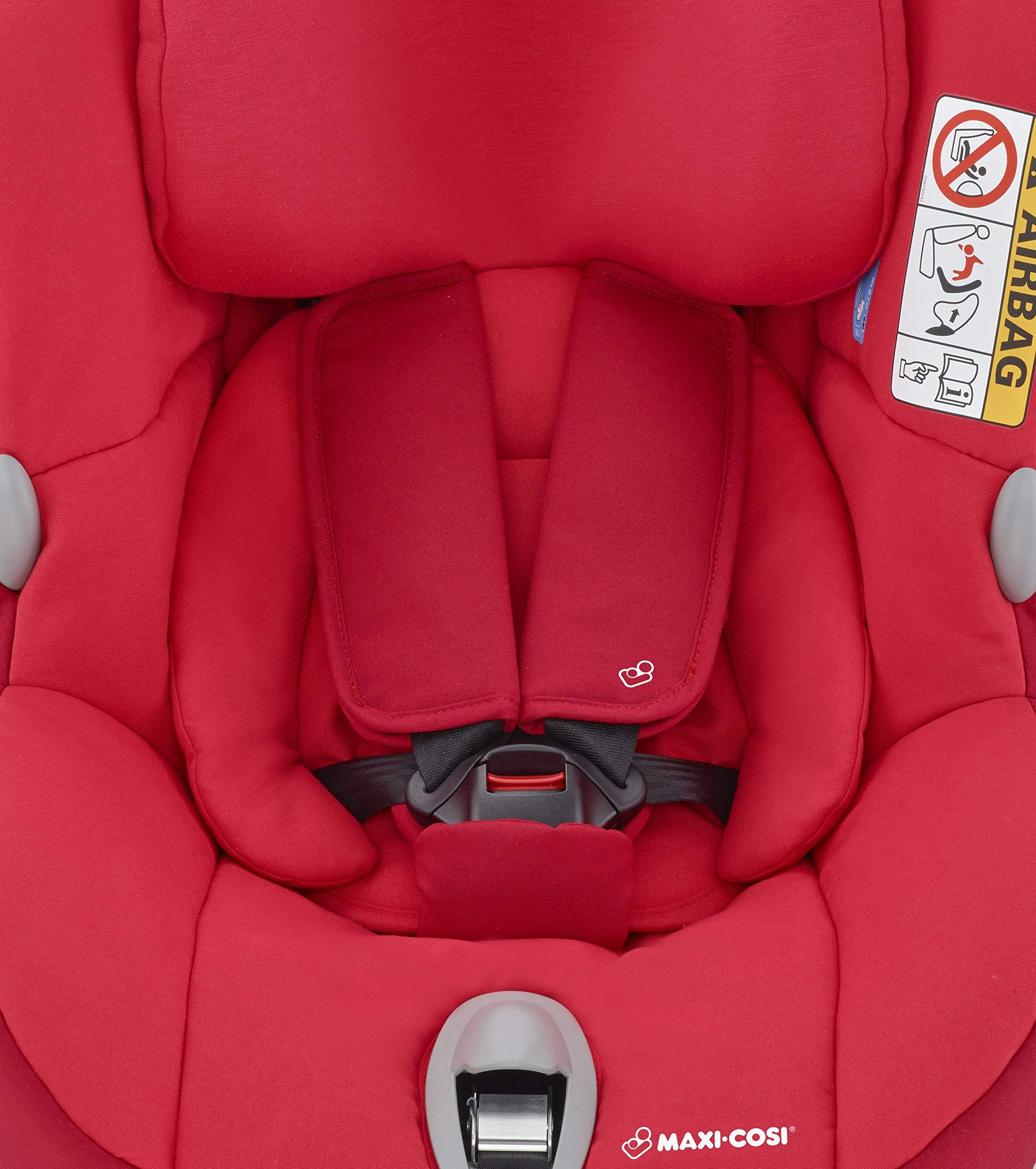 Maxi-Cosi MiloFix ISOFIX Combination Car Seat, Group 0+/1 car seat, Rear and Forward-facing, 0-4 years, 0-18 kg, Vivid Red Maxi-Cosi Rear and forward facing group 0+/1 car seat, suitable from birth to 18 kg (birth to 4 years) i-Size car seat, extended rearward-facing travel up until 18 months Padded seat and angled base provide additional leg room in rear-facing position 3