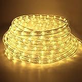 6 meter Waterdichte led-lichtslang voor Buiten, Decoratie en Verlichting, voor Halloween, Tuin, Kerstmis, Bruiloft, Feest, Wa