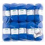 Gründl Lisa Premium Bolsa de 10 Ovillos, Acrílico, Azul Cobalto, 34 x 30 x 8.5 cm, 10 Unidades