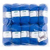 Gründl 760-35 length per ball, Lisa uni, 50 g, pack of 10, 133 m, royal blue