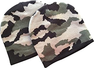 the cotton chef Cotton Army Military Camoflague Skull Monkey Winter Cap - Pack of 2