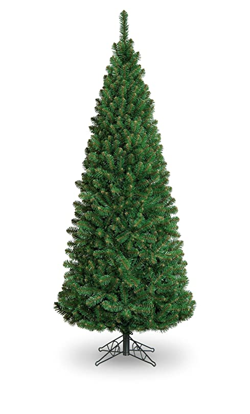 swift artificial christmas tree slim glacier fir pencil pine pvc spruce metal xmas tips realistic traditional natural green 6ft 180cm sgf 180 olore - Christmas Tree Slim