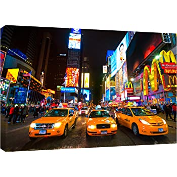MOOL 32 x 22-inch Times Square New York Canvas Wall Art Print, Multi-Colour