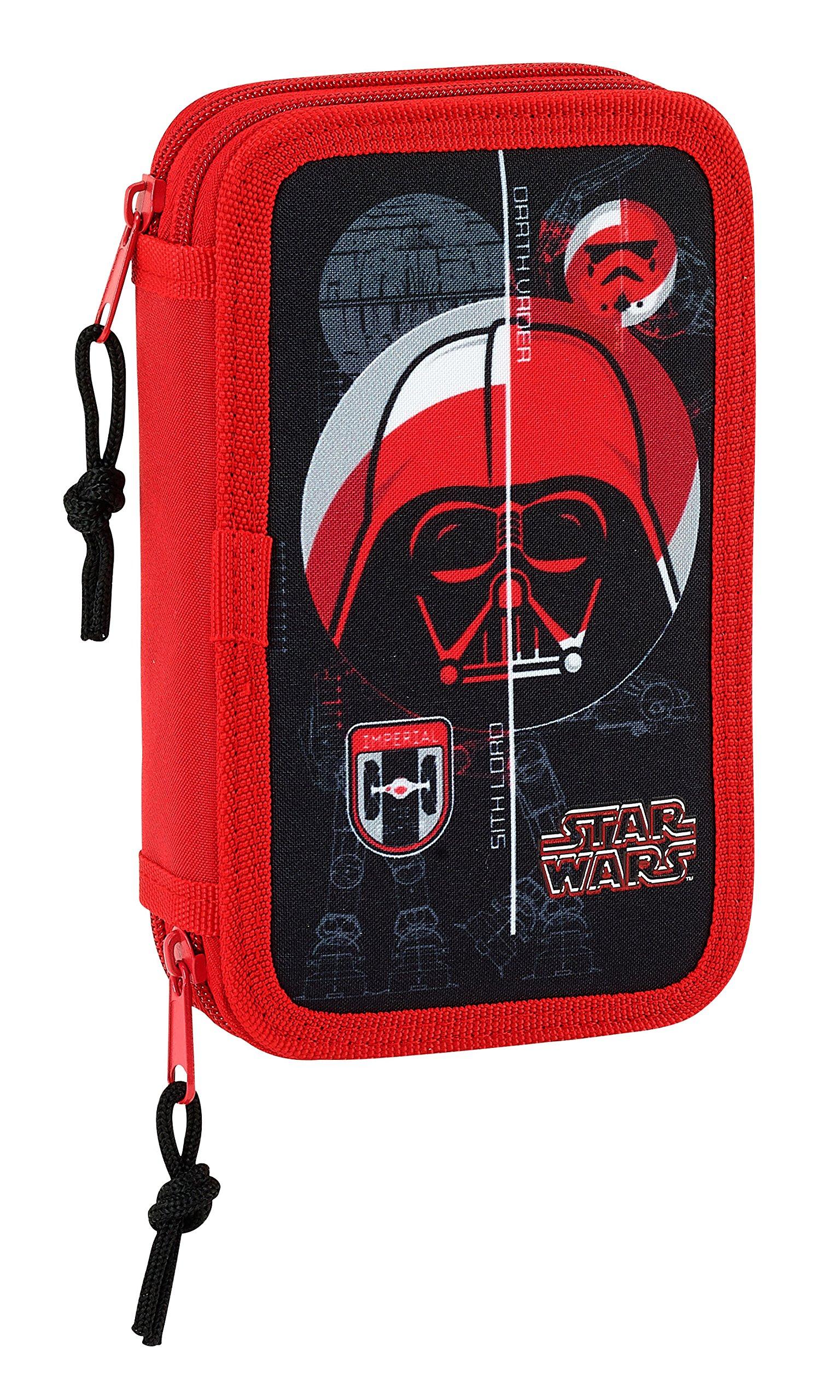 Safta Estuche Star Wars «Galactic Mission» Oficial Escolar Incluye 28 Útiles 125x40x195mm