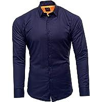 Kayhan Homme Chemise Slim Fit Repassage Facile, Coton, Manches Longues Coupe Parfaite, Produit de qualité Modell…
