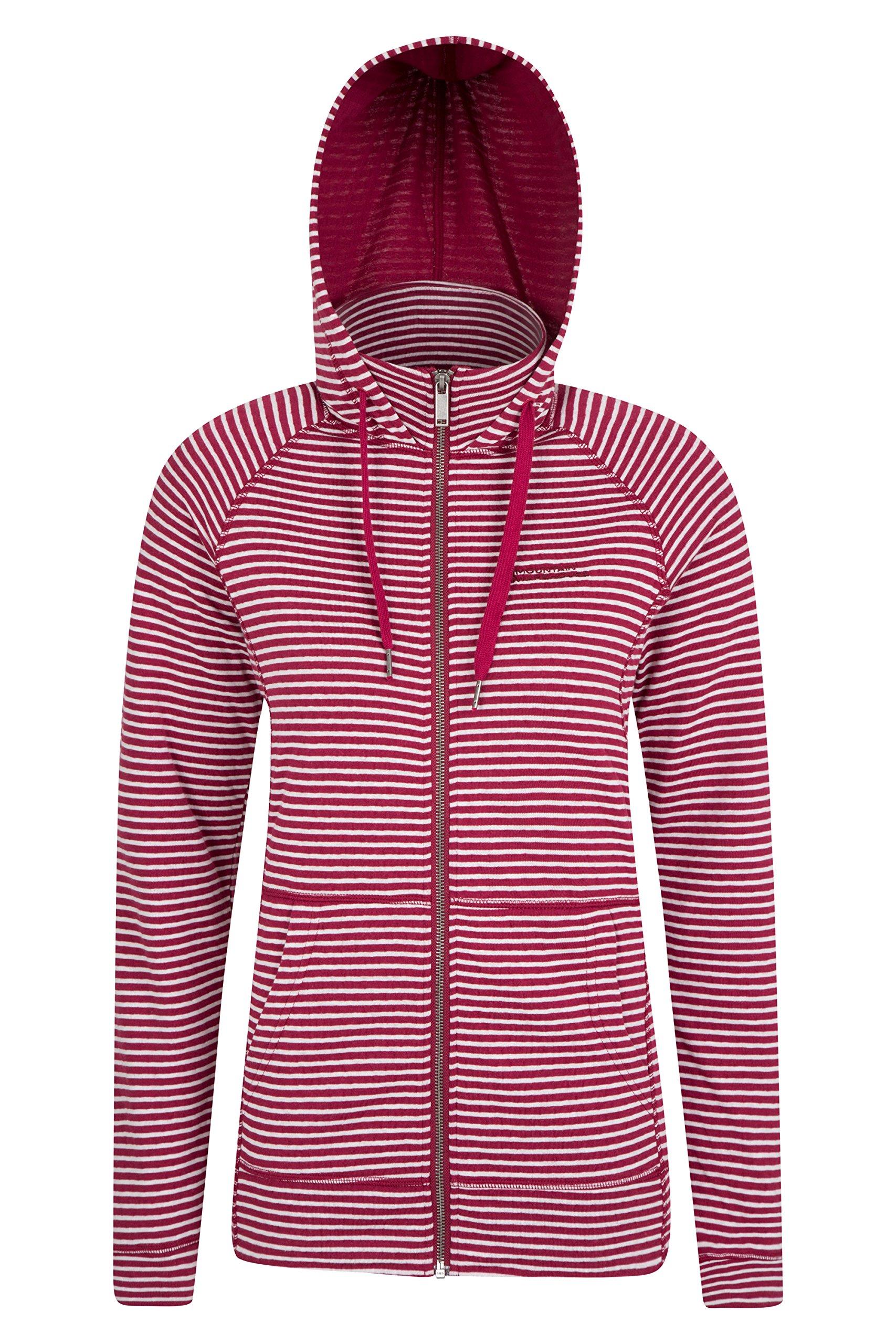 91bUu9fKTtL - Mountain Warehouse Woolamai Womens Full-Zip Hoodie -Antipill, High Neck Ladies Jacket, Breathable, Adjustable Hood, Easy…