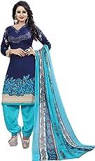 Sukh Creations latest design punjabi patiyala salwar suits cotton material for women - Blue