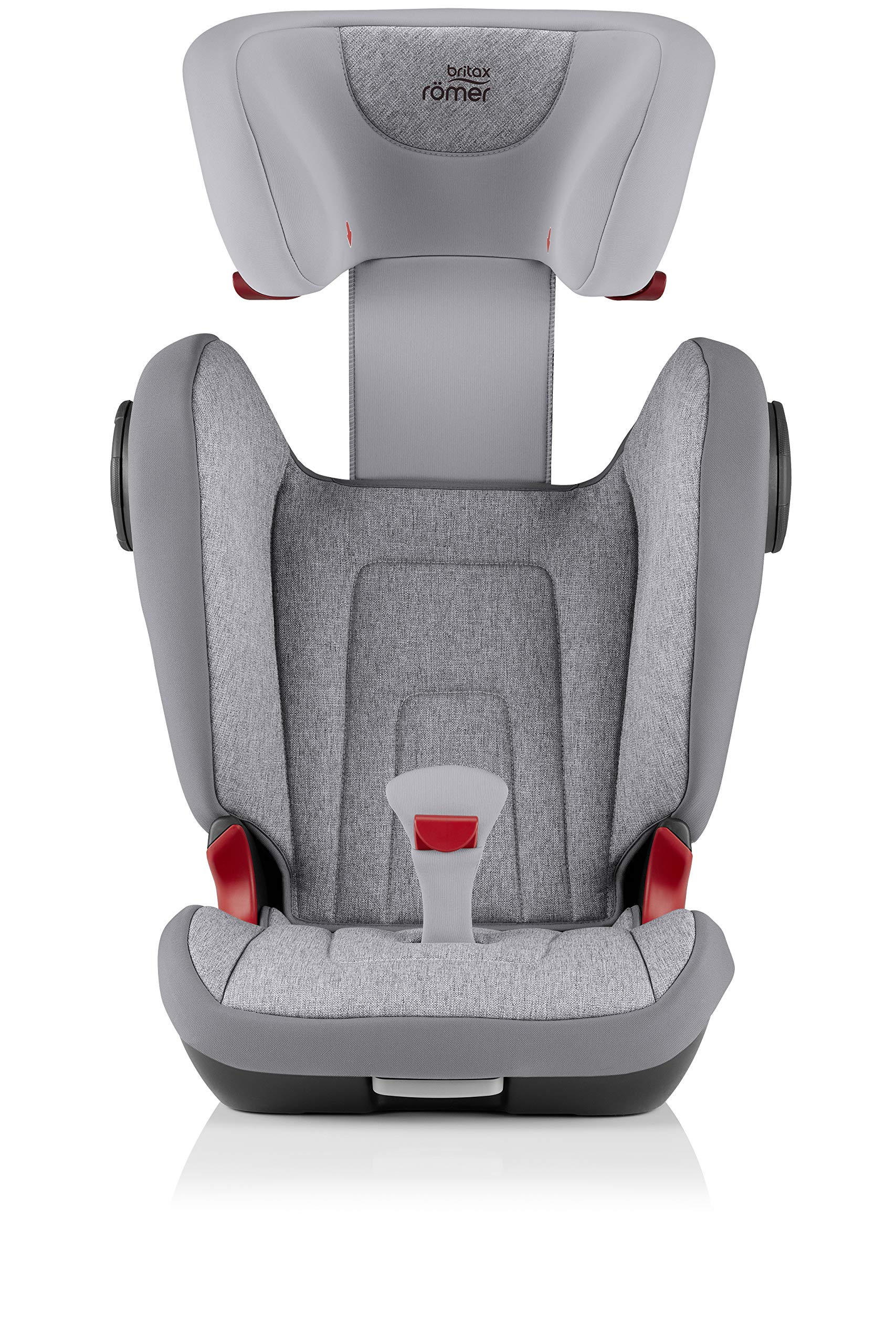 Britax Römer KIDFIX² S Group 2-3 (15-36kg) Car Seat - Grey Marble  Advanced side impact protection - sict offers superior protection to your child in the event of a side collision. reducing impact forces by minimising the distance between the car and the car seat. Secure guard - helps to protect your child's delicate abdominal area by adding an extra - a 4th - contact point to the 3-point seat belt. High back booster - protects your child in 3 ways: provides head to hip protection; belt guides provide correct positioning of the seat belt and the padded headrest provides safety and comfort. 7