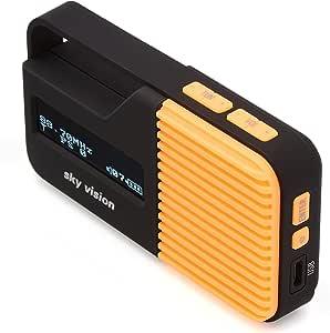 Sky Vision Dab Radio 12 O Kleines Tragbares Mini Digital Radio Outdoor Dab Fm Ukw Tuner Usb Ladefunktion Orange Heimkino Tv Video