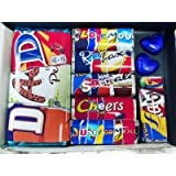 Fathers Day Gift - Novelty Fun Mismatched Chocolate Wrappers - Choose from Dad, Stepdad, Daddy, Grandad, Pops (Dad)