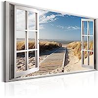 murando - Bilder Fensterblick 120x80 cm Vlies Leinwandbild 1 TLG Kunstdruck modern Wandbilder XXL Wanddekoration Design…