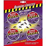 BARRIERE A INSECTES Boîte à appât Anti-Fourmis, 1 boîte/7.5m², Blister de 4 boîtes, BARFOB4P
