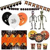 80 Halloween Decoraties en Servies - Compleet Pakket voor Feestjes