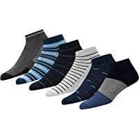 SOXCO Men's Ankle Length Formal/Casual Socks, 6 Pairs (Multicolor, Free Size)