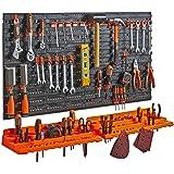 Vonhaus wandhouder, opbergen, organizerdozen, rek Pegboard & Shelf Tool Organiser
