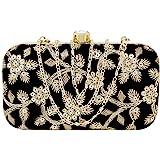 AILTINO Women's Box Clutch Purse Bag with sling chain