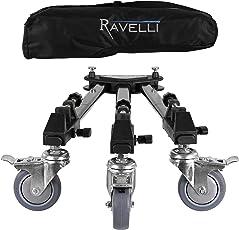 Yunteng Ravelli ATD Professional Tripod Dolly for Camera Photo Video