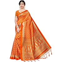 ANNI DESIGNER Women's Art Silk Saree with Blouse Piece