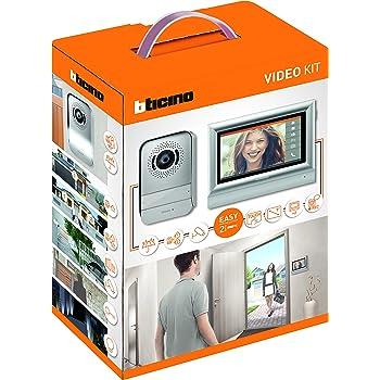 BTicino 317113 Kit Videocitofono con 2 Fili, Touchscreen 7 Pollici, Mono/Bifamigliare, Grigio