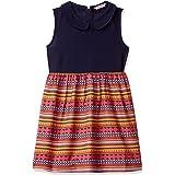 Amazon Brand - Jam & Honey Girl's Woven Empire Knee-Length Dress