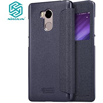 Meimeiwu Alta Qualità Slim Custodia in pelle - Flip Cover Leather Case Per XiaoMi RedMi 4 Pro - Nero