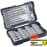 kwb 108960 39-teilige Bohrer-Box m. Sechkant-Schaft, HSS Metallbohrer, 4 x Steinbohrer und Bits PH, PZ u. TX im Set inkl. Sen
