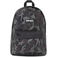 Fortnite Boys Backpack for Kids, Back to School Bag for Children, Fortnite Llama, Camo or Raven Design (Black Emotes)