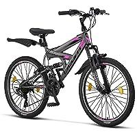 Licorne Bike Premium Strong V Mountainbike in 24 und 26 Zoll - Fahrrad für Jungen, Mädchen, Damen und Herren - 21 Gang…