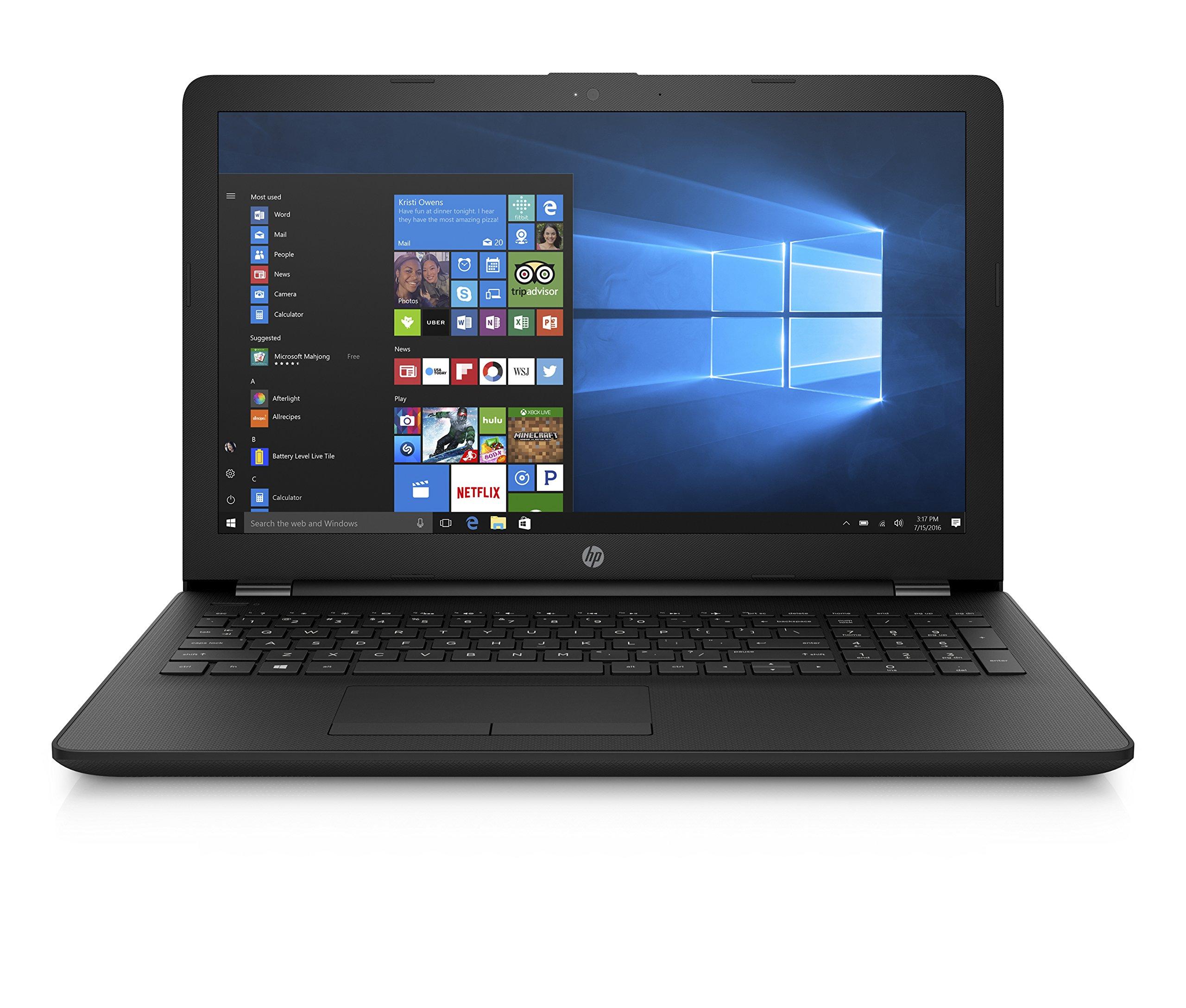 HP Notebook 15-bs040ns – Ordenador Portátil HD, Intel Core i3-6006U, 4 GB RAM, 500 GB HDD, Intel HD Graphcis 620, Windows 10, Negro, 15.6″ – Teclado QWERTY Español