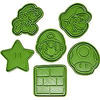 Set di 6 Tagliabiscotti a forma di personaggi di Super Mario Bros