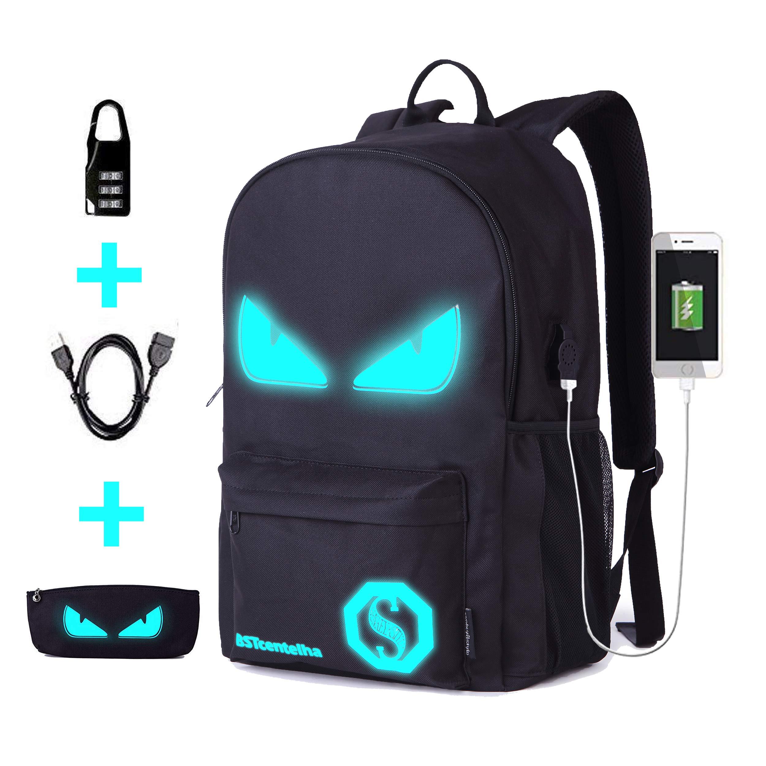 nouveaux styles ed5a8 abe5d BSTcentelha, Sac à dos léger lumineux style cartoon avec compartiment  d'ordinateur portable Parfait cadeau d'Halloween (Grand)