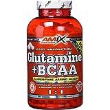 AMIX - Bcaa Glutamina - 360 Cápsulas - Complemento Alimenticio de Bcaa en Cápsulas - Reduce el Catabolismo Muscular - Ideal p