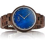 Cari Damen Frauen Holzuhr mit Schweizer Uhrwerk - Holz-Armbanduhr Kapstadt-101