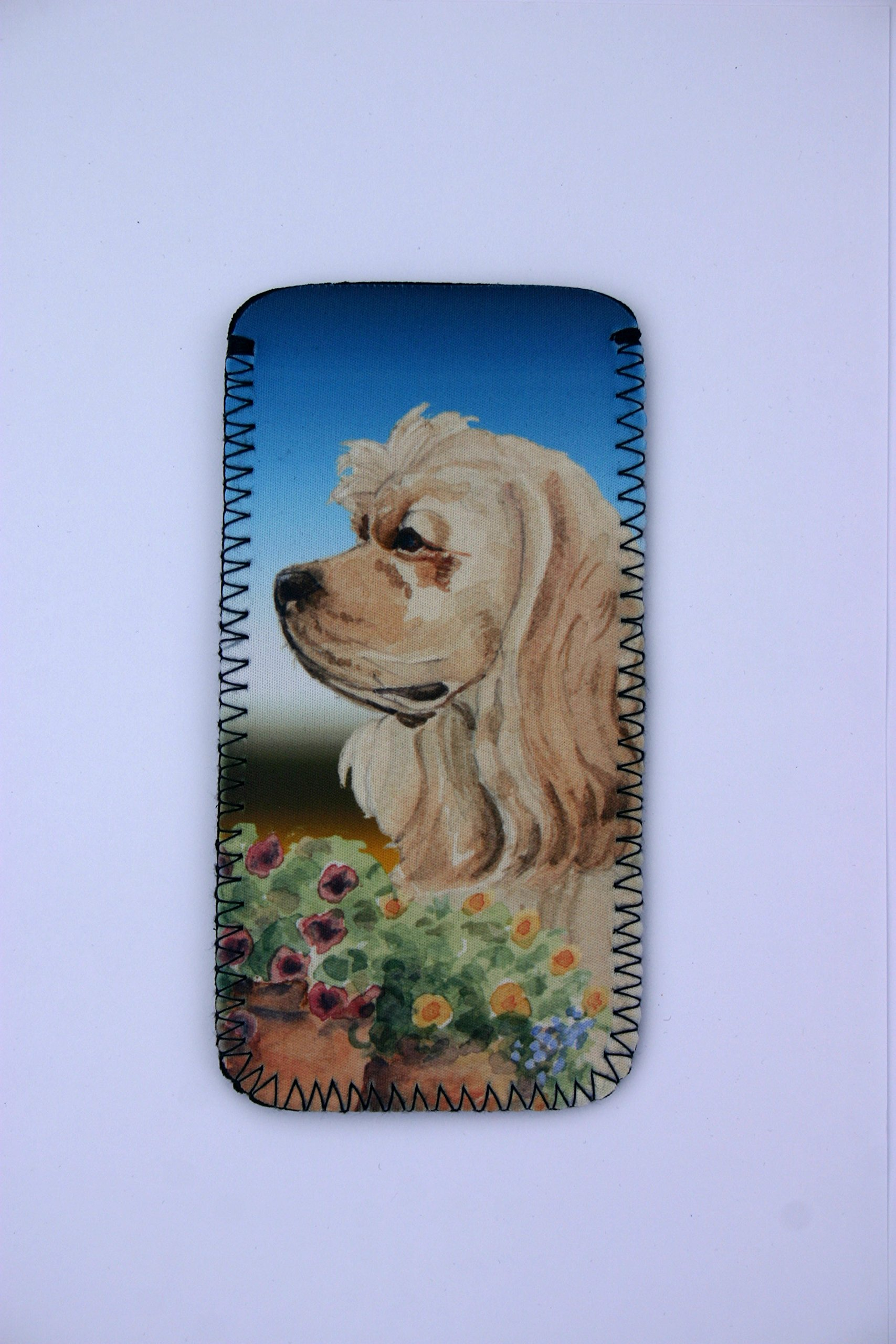 AMERICAN COCKER SPANIEL DOG GLASSES CASE POUCH design Sandra Coen