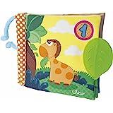 Chicco Libro Neonato Prime Attività 123, Libro Sensoriale Bambini con Giocattoli Pendenti per la Dentizione, Libretto Morbido